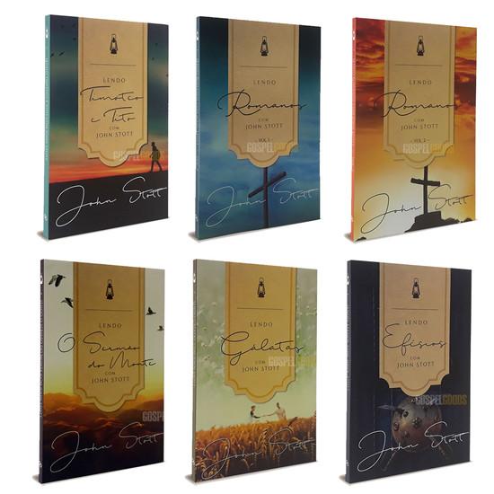 Combo 6 Livros - Lendo a Bíblia com John Stott
