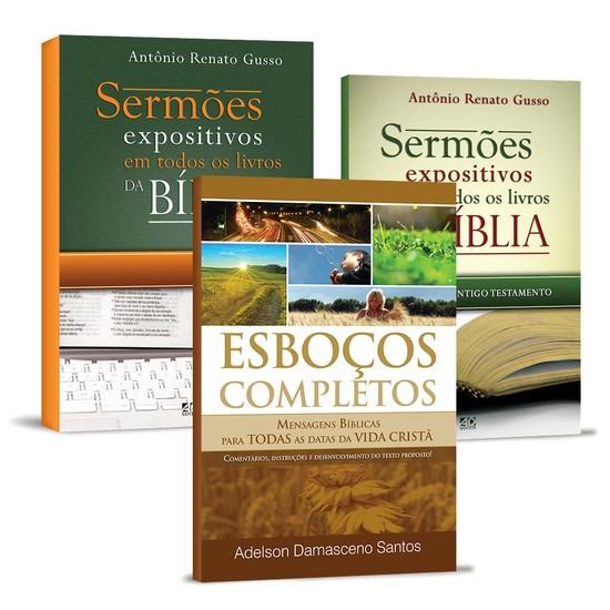 Combo 3 Livros - Esboços Bíblicos Completos
