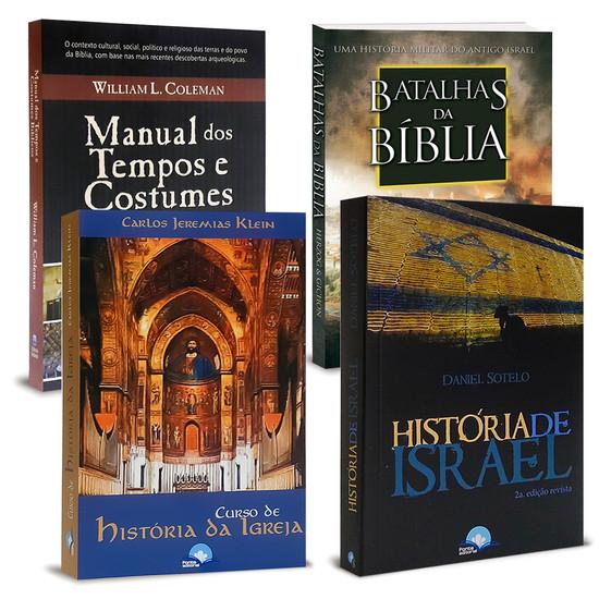Combo 4 Livros - História, Batalhas e Costumes