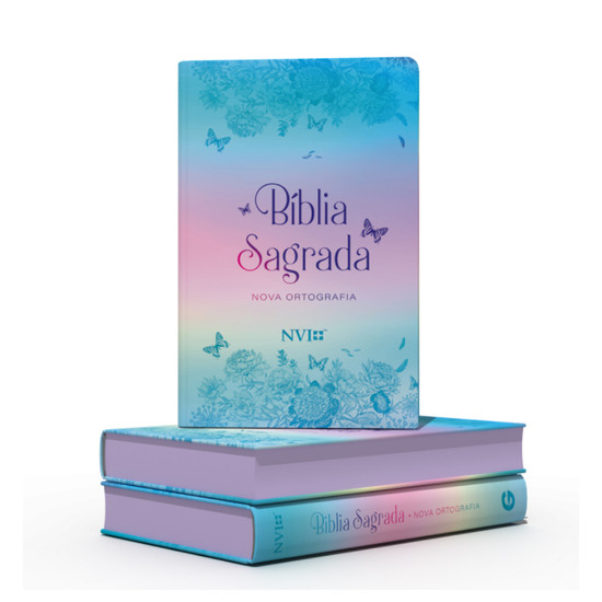 Bíblia NVI Gigante (Semi luxo - Borboletas metalizadas)