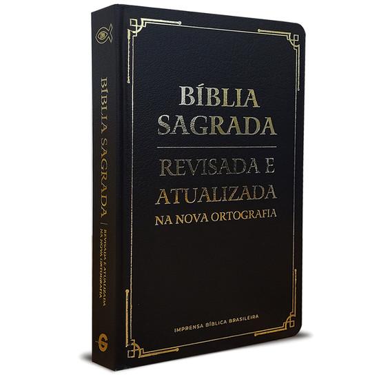 Bíblia Sagrada - Revisada e Atualizada (Semi luxo - Preta)