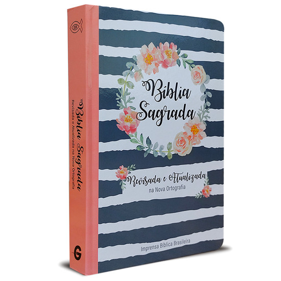 Bíblia Sagrada - Revisada e Atualizada (Semi luxo - Guirlanda Floral)
