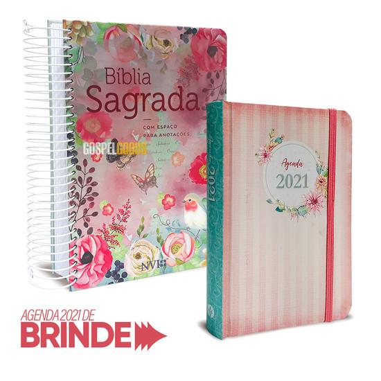 Combo Bíblia Anote Virtuosa + Agenda Feminina Diária 2021