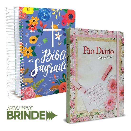 Combo Bíblia Anote Céu + Agenda Feminina Semanal 2021