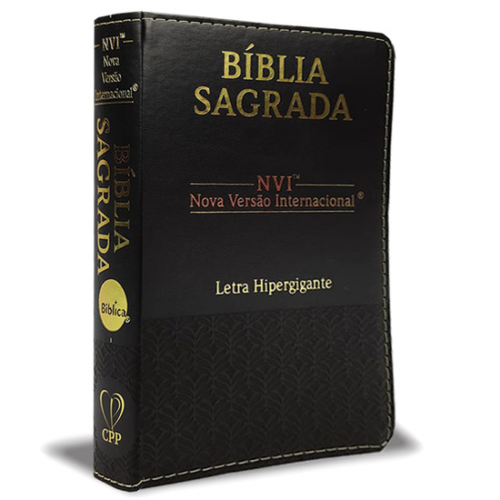 Bíblia NVI Com Letra Hipergigante - Capa Preta BD
