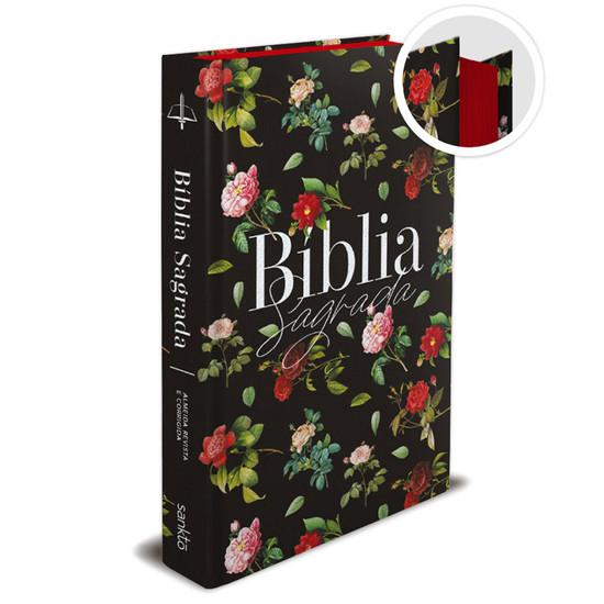 Bíblia Sagrada ARC - Rosas Do Campo - Preta
