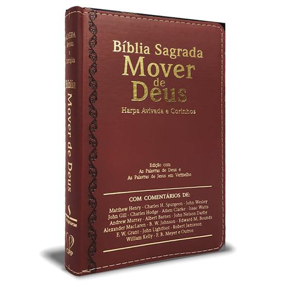 Bíblia Sagrada Mover de Deus - Letra Ultragigante (Bordô)