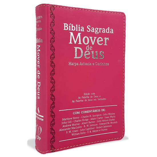 Bíblia Sagrada Mover de Deus - Letra Ultragigante (Pink)