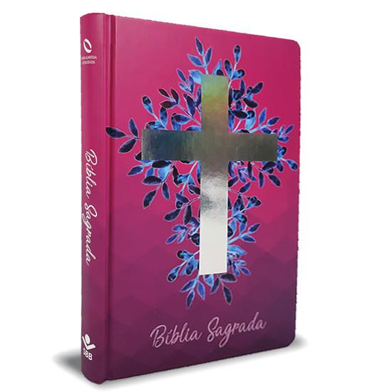 Bíblia Sagrada Cruz - Capa Rosa