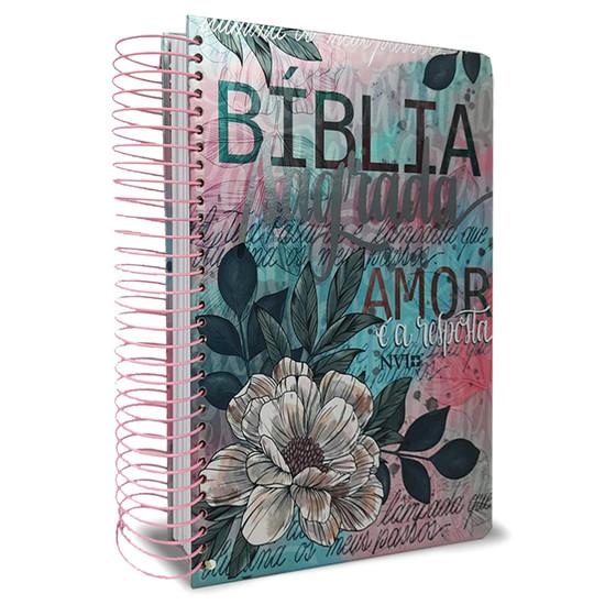 Bíblia Sagrada Anote NVI - Flor Artística