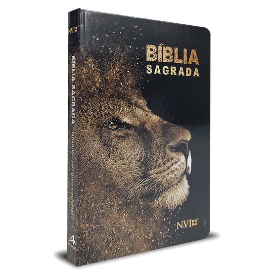 Bíblia Sagrada NVI Slim Leão Dourado