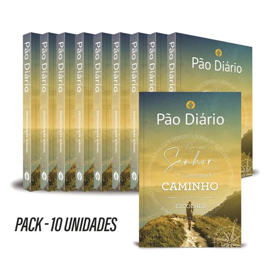 Pack com 10 unidades - Pão Diário 2022 - Vol. 25  Capa Caminho