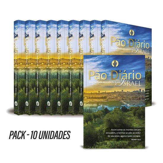 Pack com 10 unidades - Pão Diário 2022 - Vol. 25 Israel
