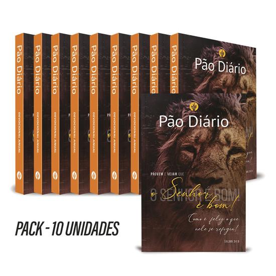 Pack com 10 unidades - Pão Diário 2022 - Vol. 25 O Senhor é bom
