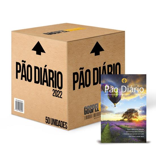 Caixa 50 unidades - Pão Diário 2022 -Vol. 25 Capa Paisagem