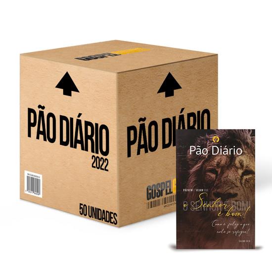 Caixa 50 unidades - Pão Diário 2022 -Vol. 25 Capa o Senhor é Bom