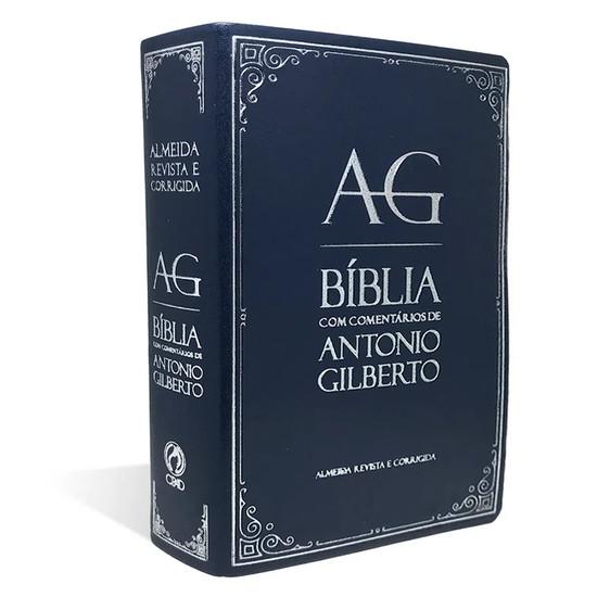 Bíblia com Comentários de Antonio Gilberto (Azul)