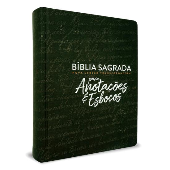 Bíblia NVT para Anotações e Esboços - Preta