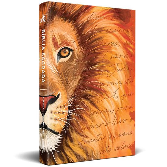 Bíblia ACF Slim Leão Laranja