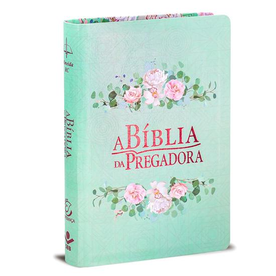 A Bíblia da Pregadora - Verde Flores Média