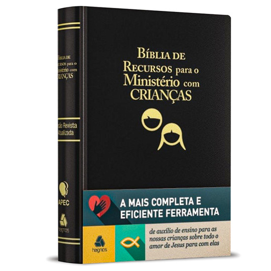 Bíblia de Recursos para Ministério com Crianças - Apec (Luxo Preta)