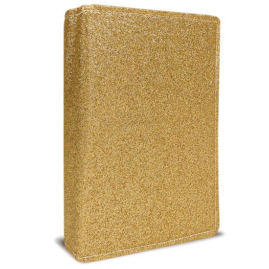 Bíblia Sagrada com Letra Hiper Gigante e Harpa - ARC (Gold Glitter)