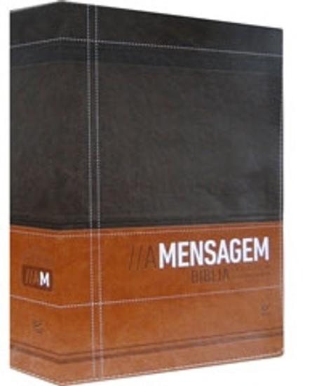 Bíblia A Mensagem (Luxo Marrom e Café)