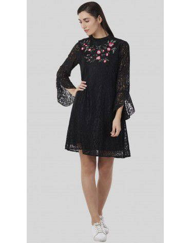 SbuyS - Embroidered Lace Dress