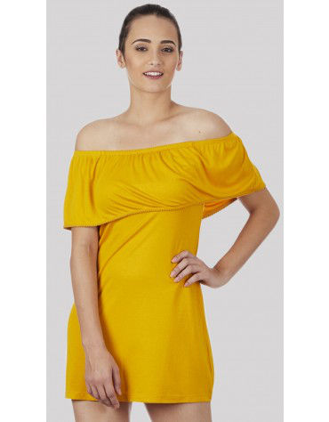 SbuyS - Yellow Off Shoulder Dress