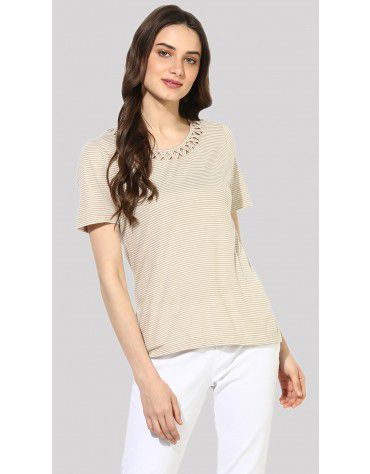 SbuyS  - Lattice Striper T-Shirt