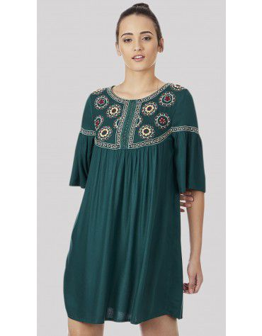 SbuyS - Embroidered Midi Dress