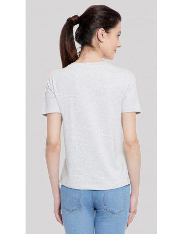 SbuyS  - Heart Embroidered T-Shirt