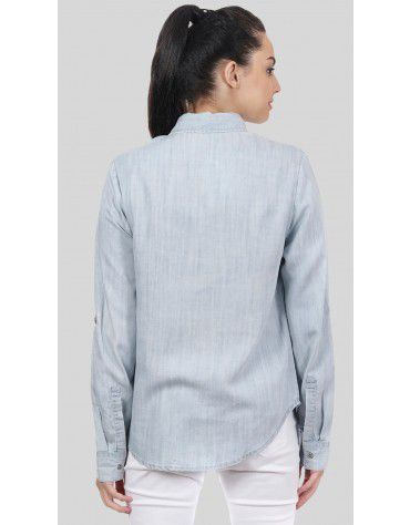 SbuyS  - Button Down Denim Shirt