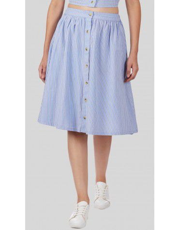 SbuyS  - Button Front Skater Co-ords Skirt Set