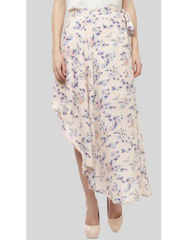 SbuyS - Floral Print Wrap Skirt