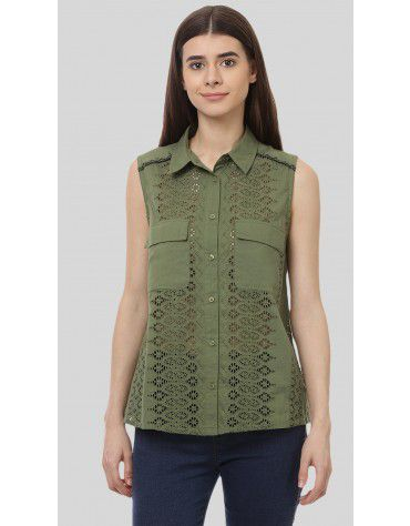 SbuyS - Sleeveless Schiffli Shirt