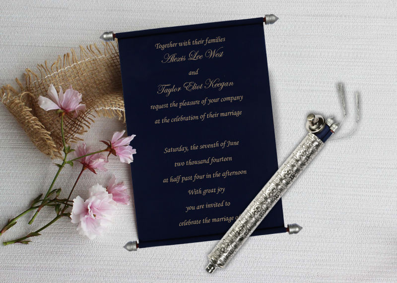 Scroll Wedding Cards-IndianWeddingCards