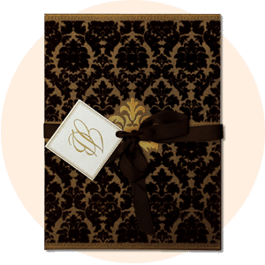 BROWN SHIMMERY INVITATION