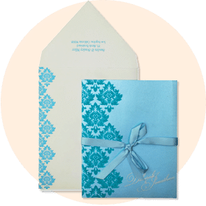 TURQUOISE SHIMMERY INVITATION