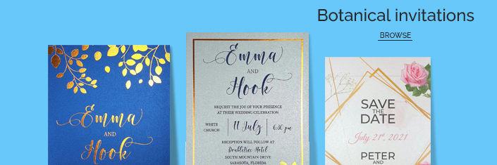 BOTNICAL WEDDING INVITATIONS