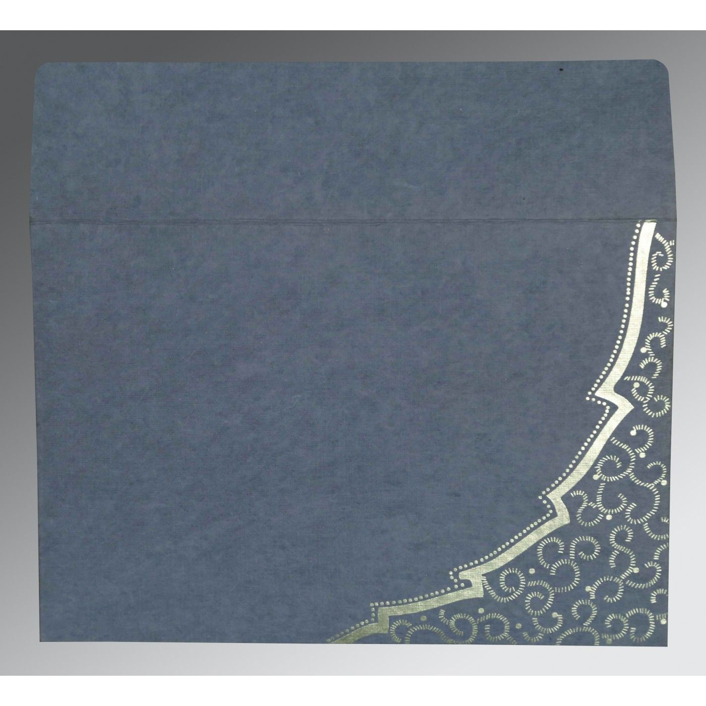 MOON STONE HANDMADE COTTON FLORAL THEMED - FOIL STAMPED WEDDING CARD : CD-8219E - IndianWeddingCards