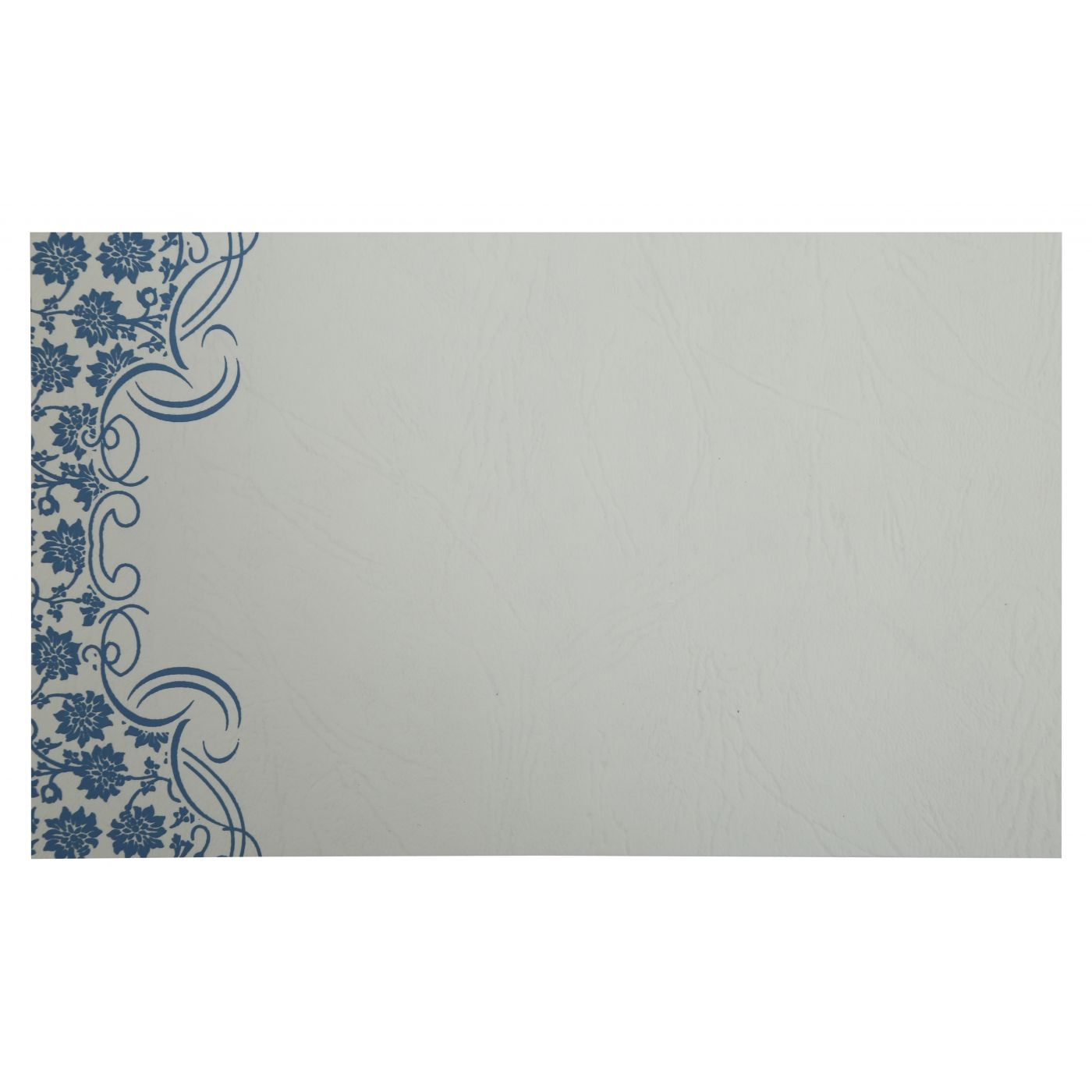 BLUE MATTE FLORAL THEMED - SCREEN PRINTED WEDDING INVITATION : CD-810A - IndianWeddingCards