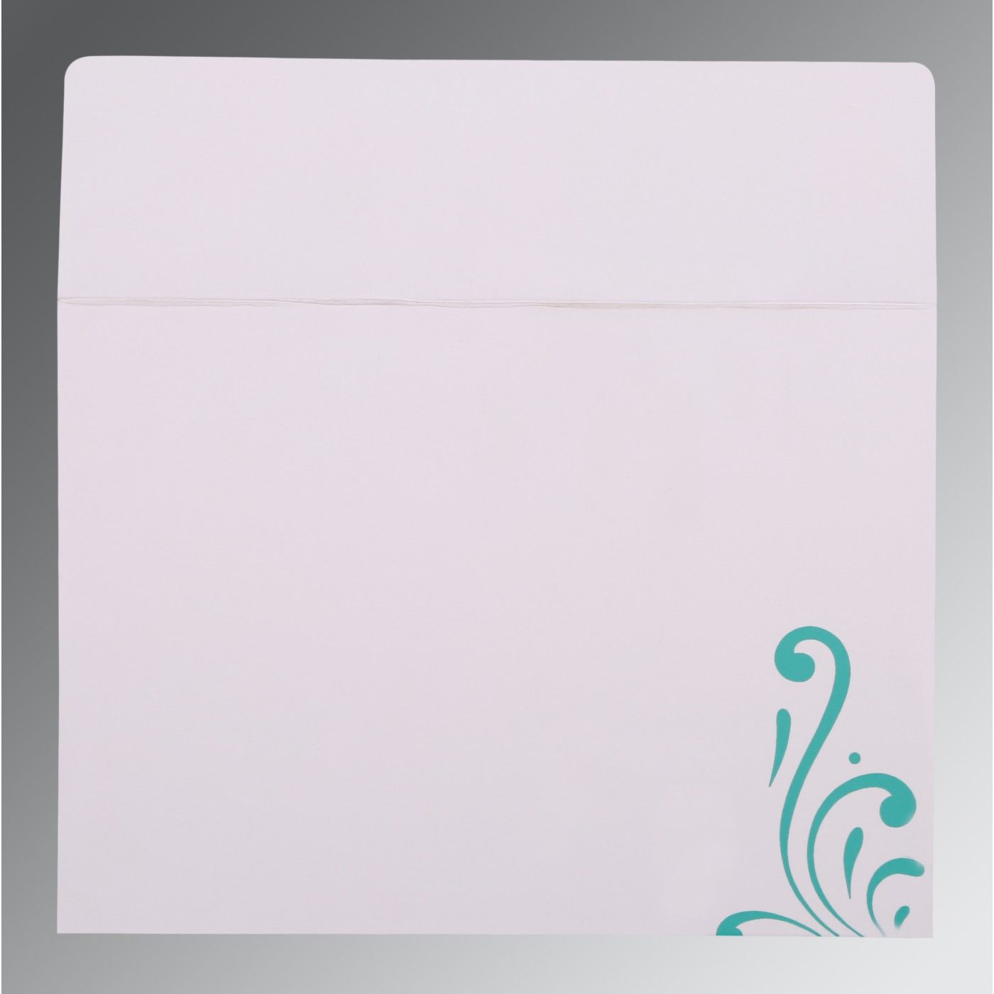 TURQUOISE SHIMMERY SCREEN PRINTED WEDDING CARD : CSO-8223H - IndianWeddingCards
