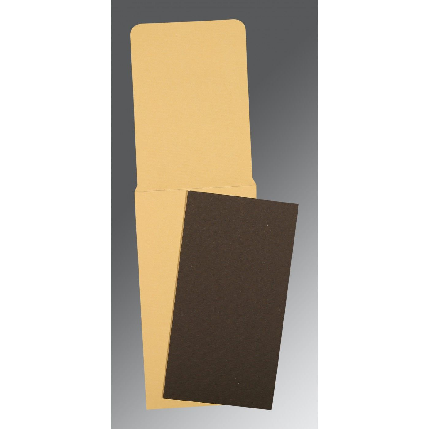 BROWN MATTE PERSONAL CARDS : CP-0028 - IndianWeddingCards