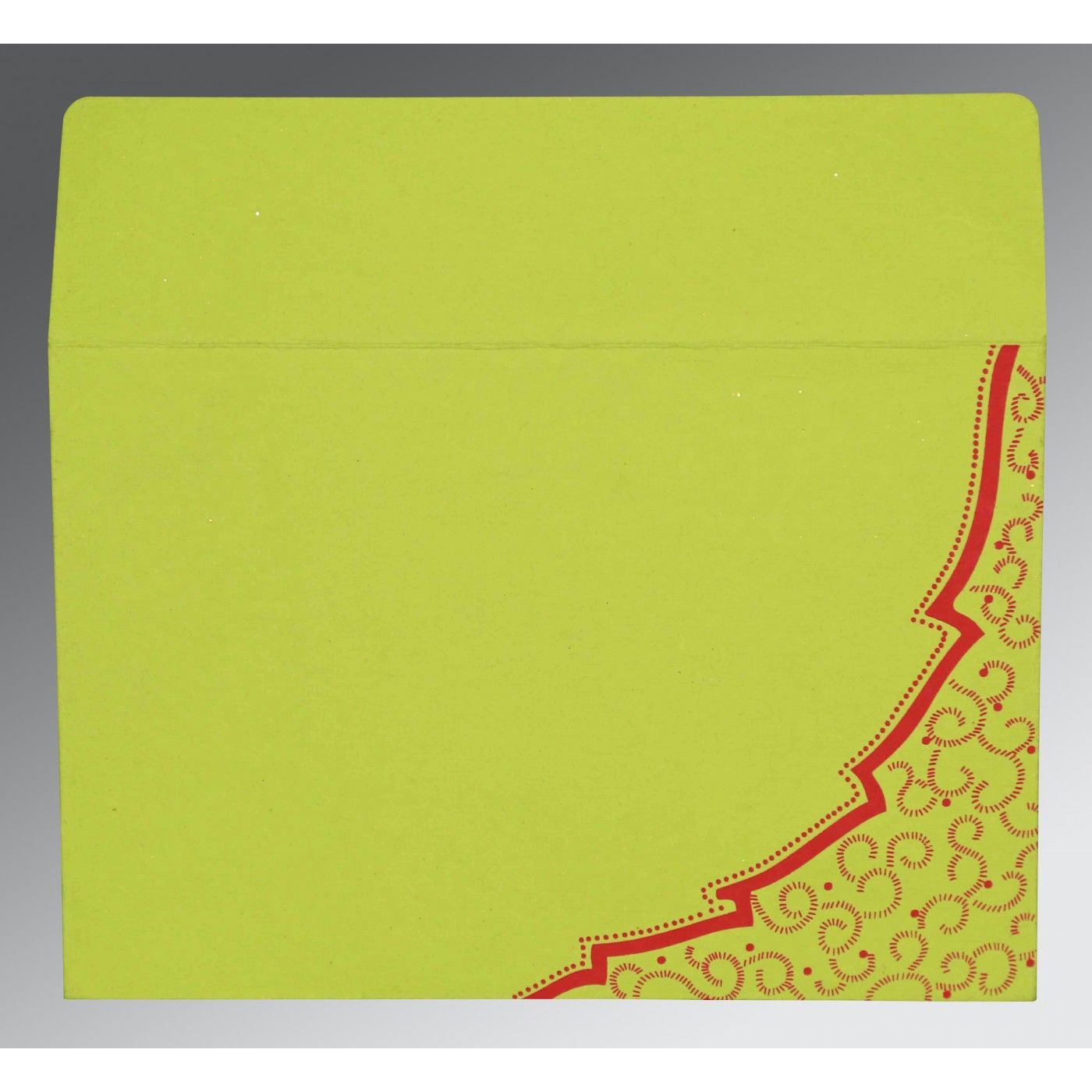 PARROT GREEN TRANSPARENT HANDMADE COTTON FLORAL THEMED - FOIL STAMPED WEDDING CARD : CG-8219A - IndianWeddingCards