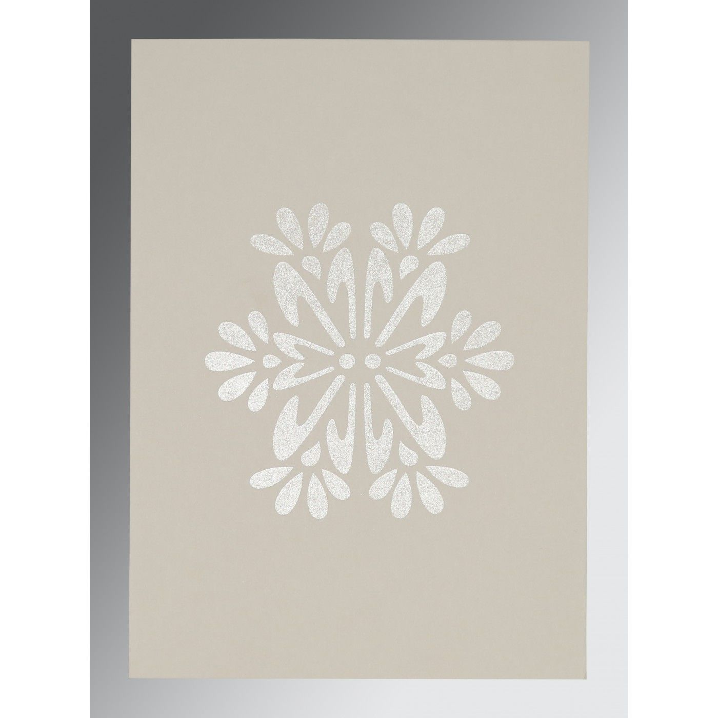YELLOW METAL MATTE FLORAL THEMED - FOIL STAMPED WEDDING INVITATION : CW-8237E - IndianWeddingCards