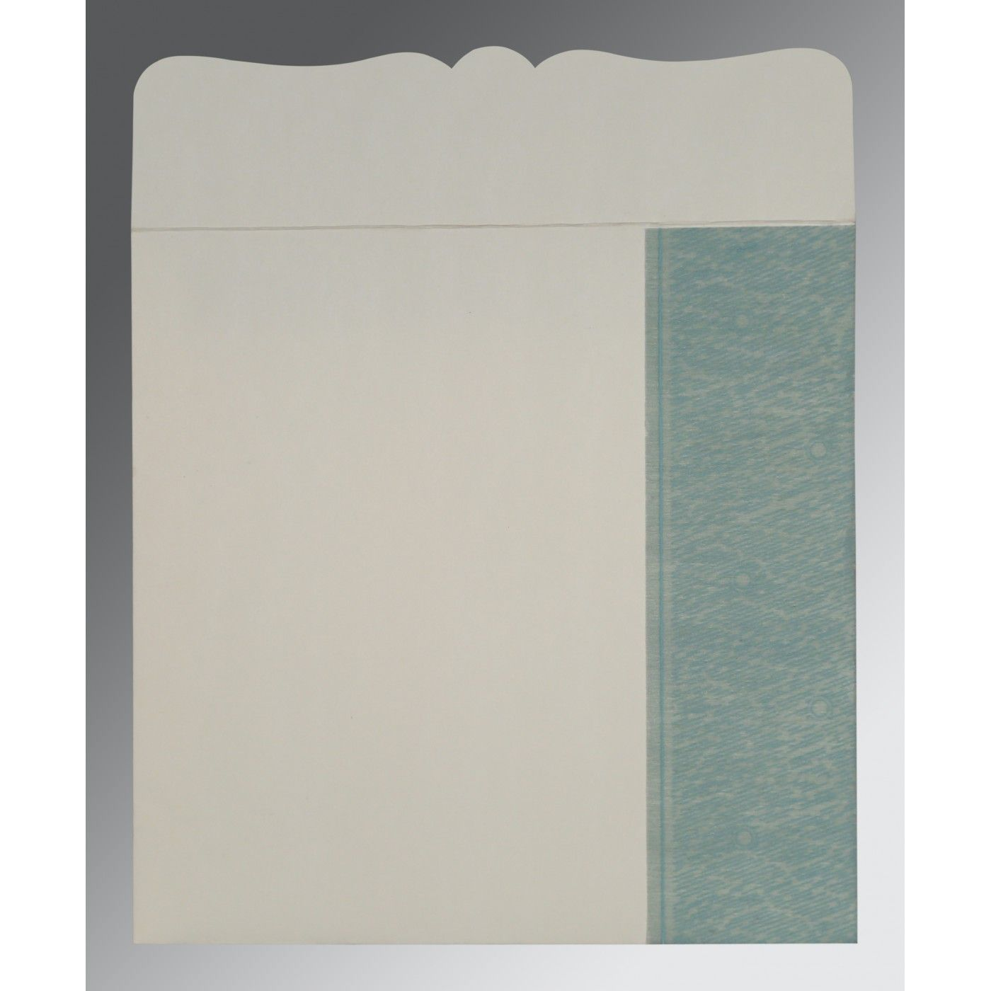 SEA GREEN SHIMMERY FLORAL THEMED - EMBOSSED WEDDING CARD : CSO-8209F - IndianWeddingCards