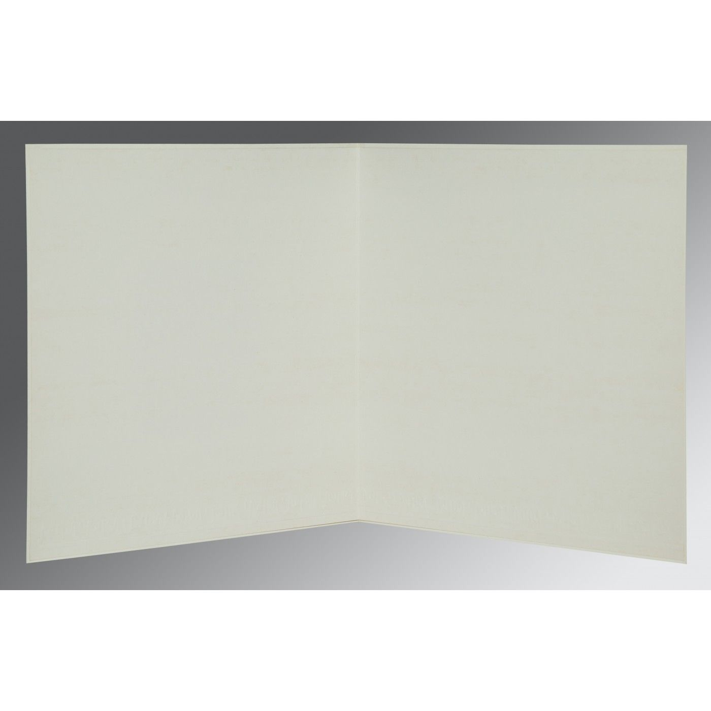 OFF-WHITE MATTE EMBOSSED WEDDING CARD : CW-1153 - IndianWeddingCards