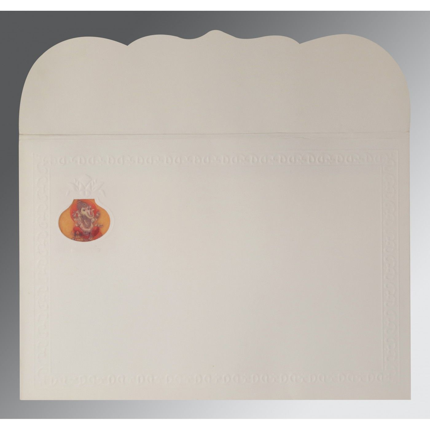 OFF-WHITE MATTE FOIL STAMPED WEDDING INVITATION : CW-2205 - IndianWeddingCards
