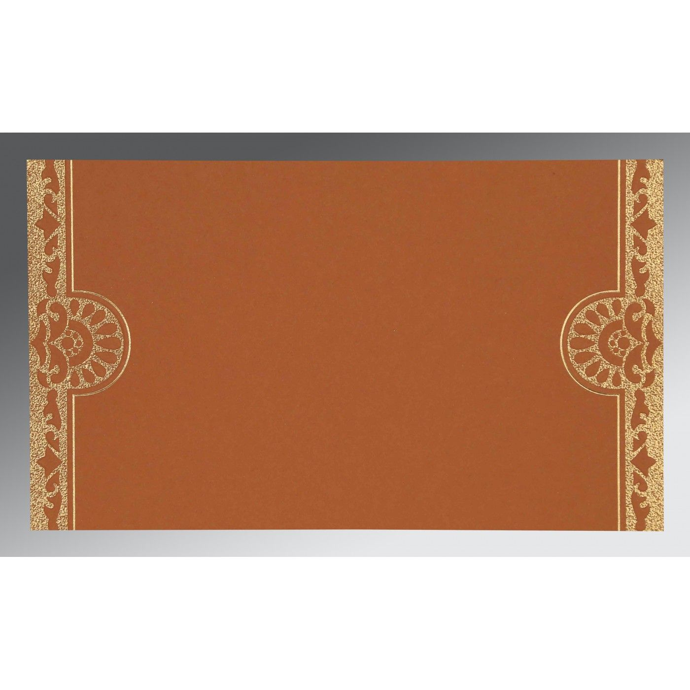 OFF-WHITE SHIMMERY FLORAL THEMED - SCREEN PRINTED WEDDING CARD : CG-8227L - IndianWeddingCards